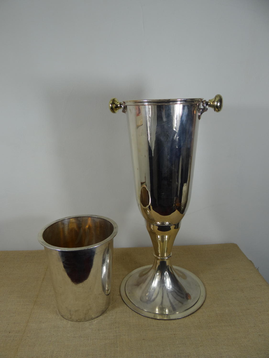 Silver plated wine/champagne bucket