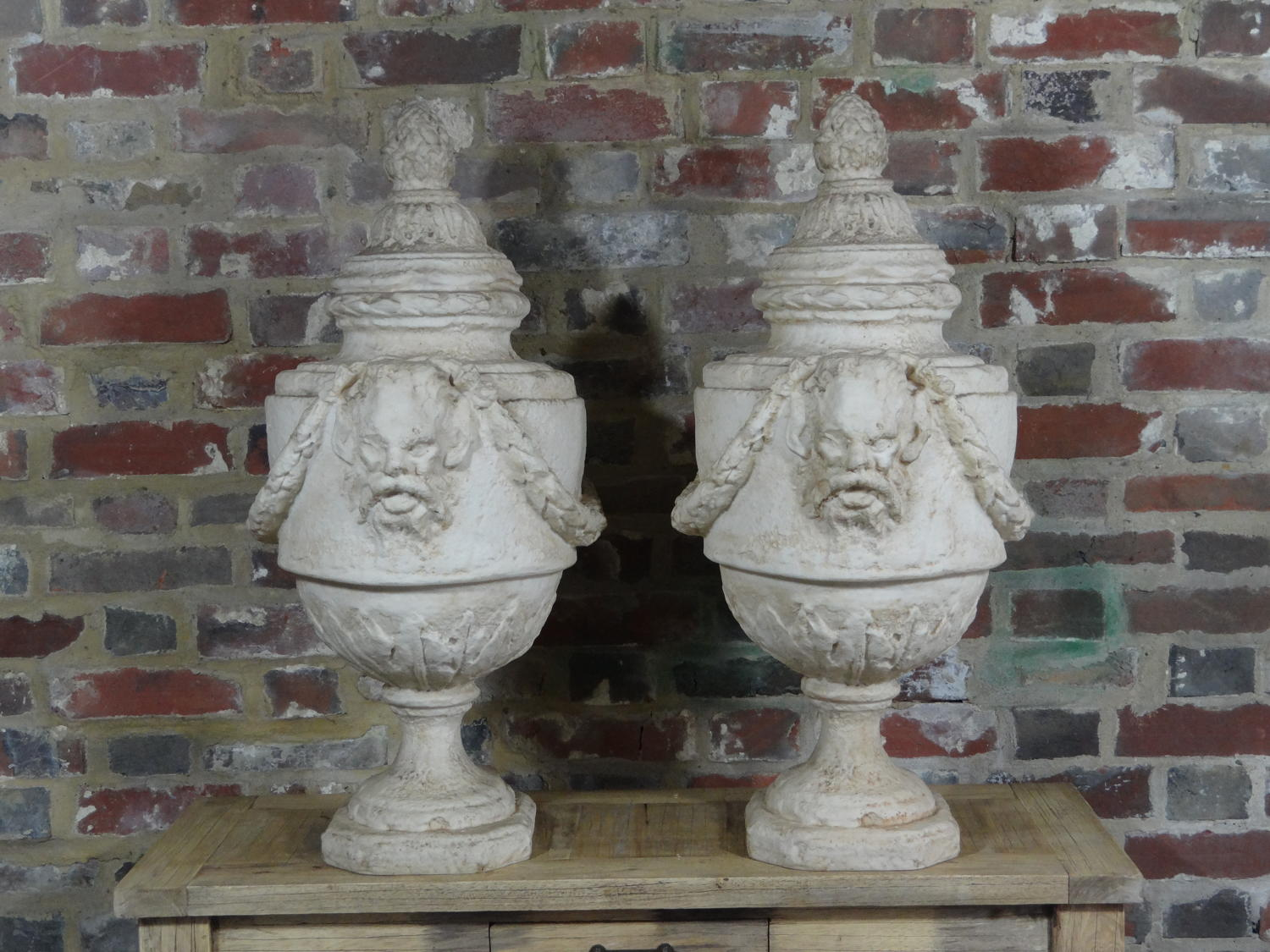 A pair of contemporary urns