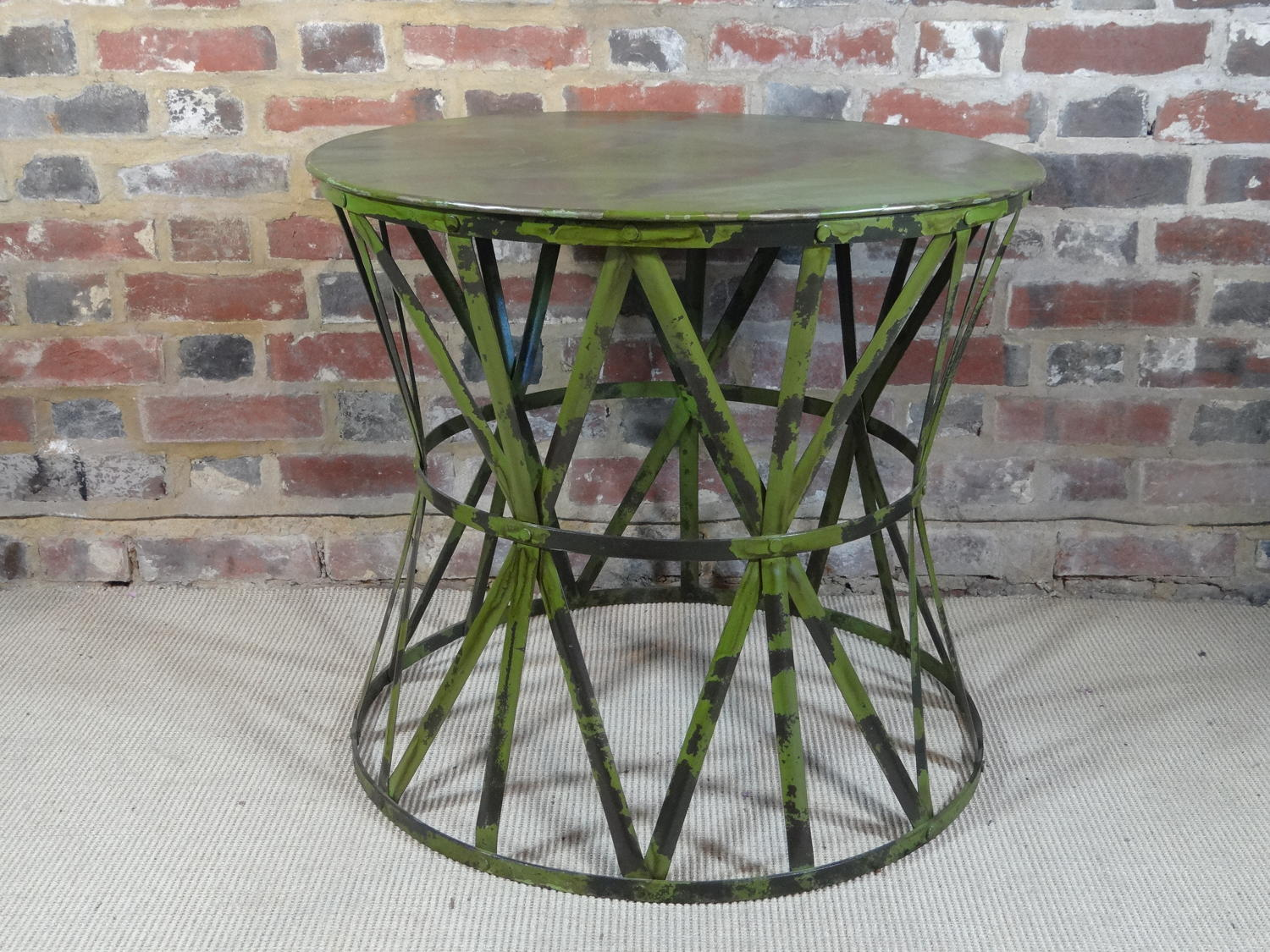 Painted metal table