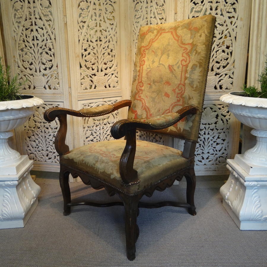 A French throne chair.