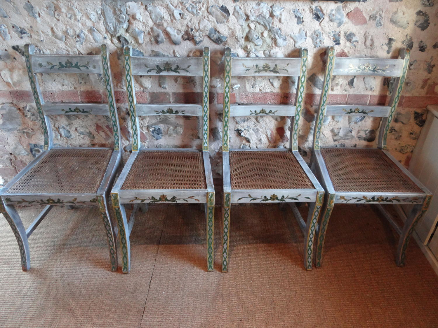 A set of four Scandinavian chairs