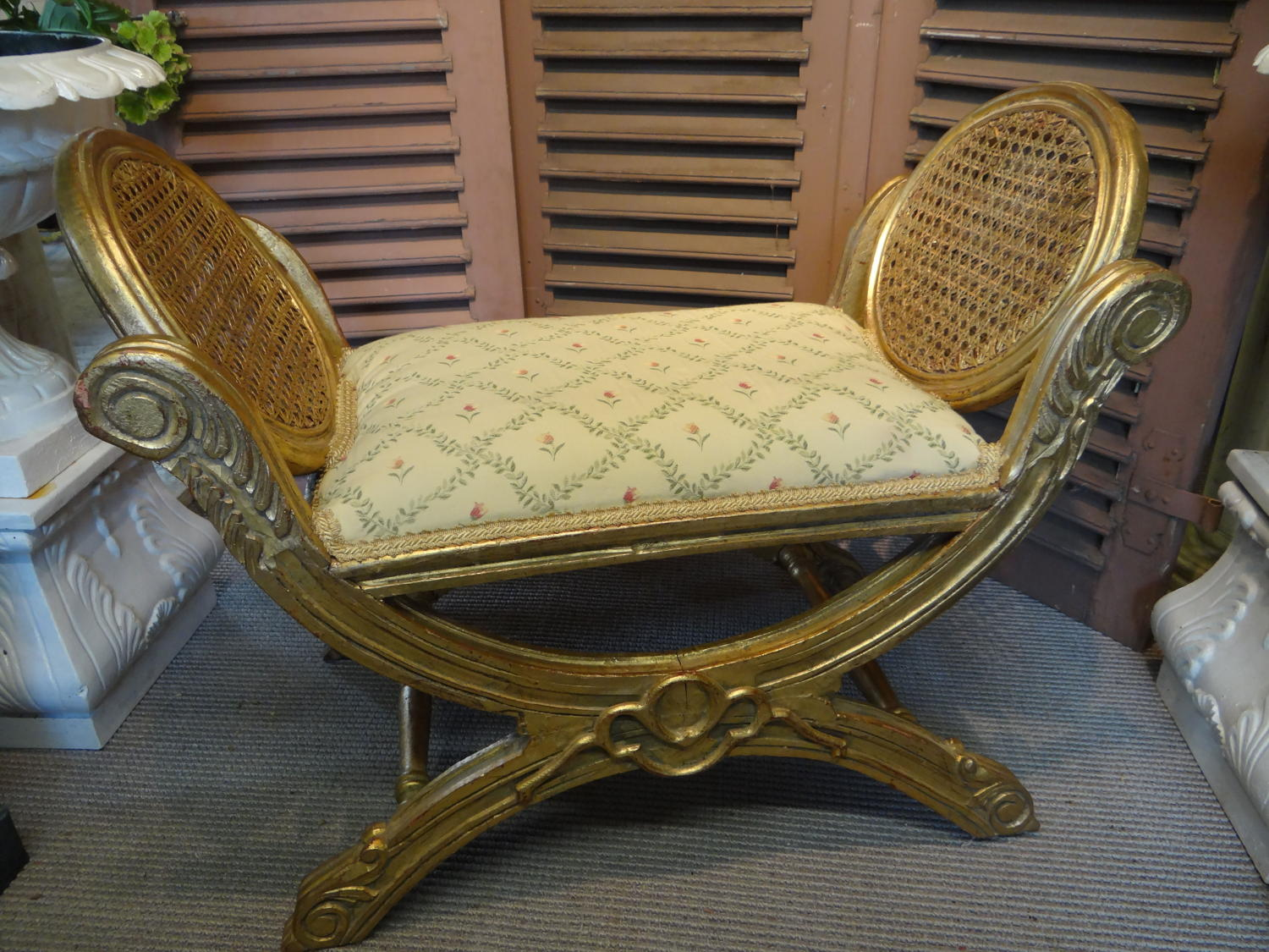 A french gilt footstool