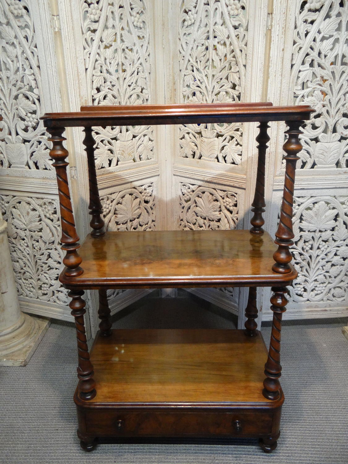 Mahogany and Walnut Etagere