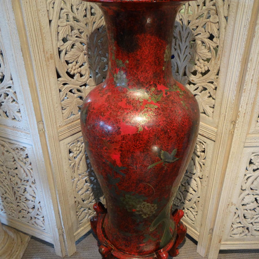 Chinese Vase On Stand